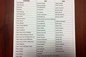 2017 Senior Superlatives Released