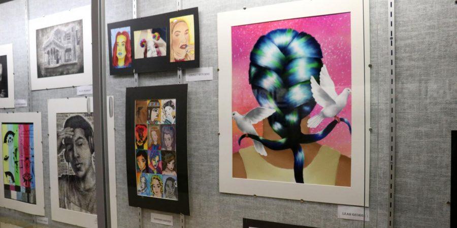 Behind the scenes of AP art