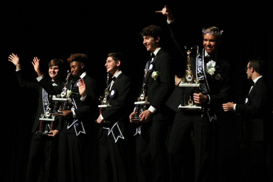 Seniors strut onstage in Mr. Wildcat pageant