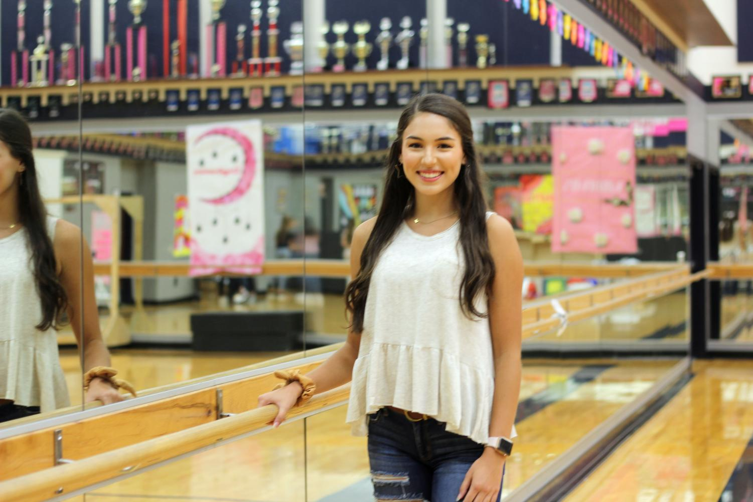 Senior Caroline Valdes will serve as the drill team captain this school year.