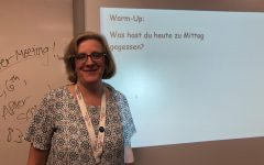 German teacher Brenda Bauske began teaching this school year.