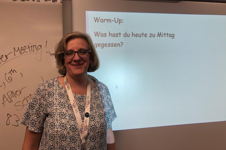 German teacher Brenda Bauske began teaching this school year.