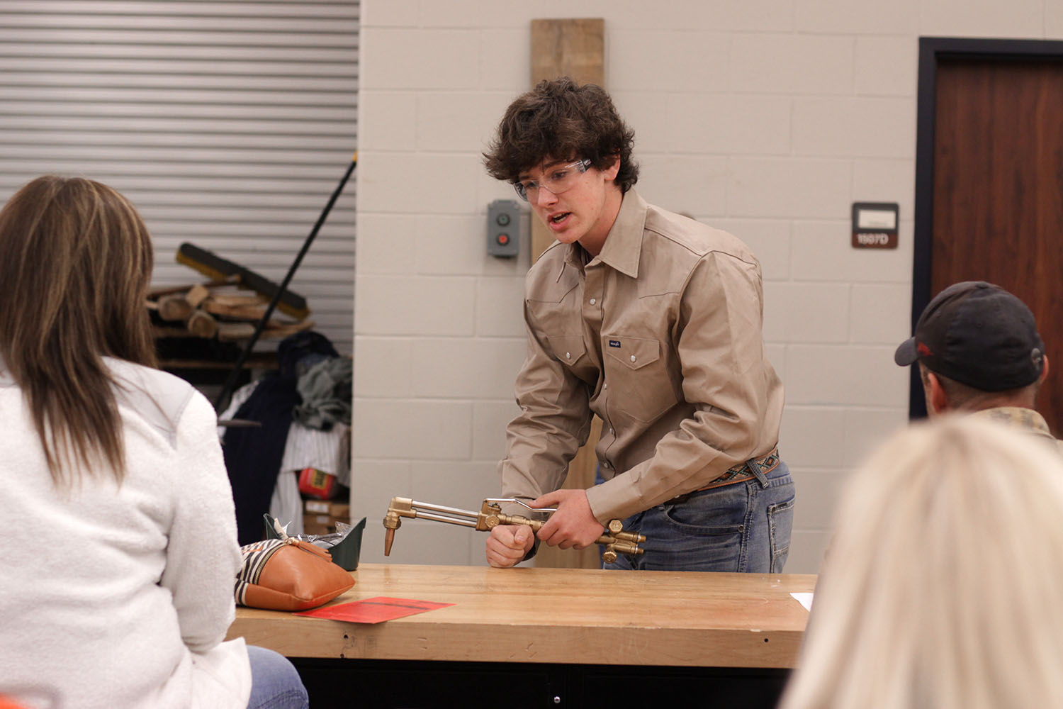 FFA student sophomore Aaron Fox competes on the Senior Skills team at the FFA LDE showcase in late October.