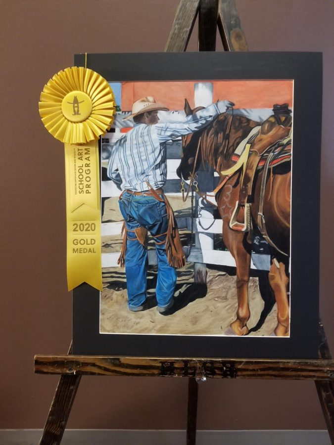 One of the Rodeo Art winners