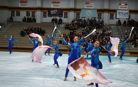 Color guard competed at Klein Collins High School on Saturday, January 25.