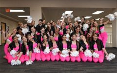 The Silver Stars strike a pose at the Clear Lake High School competiton