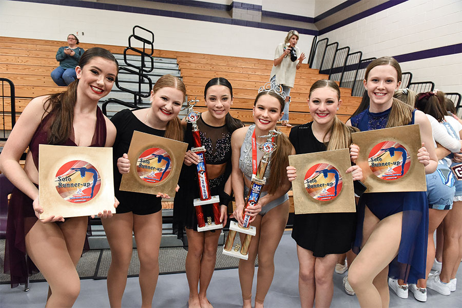 Drill team members earned many awards at the competition.