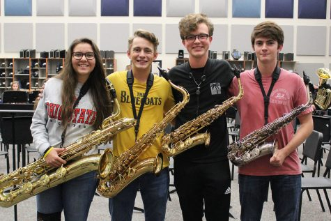 Senior saxophone quartet members were unable to hold a long-anticipated music festival performance due to COVID-19.