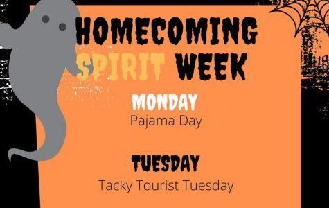 Homecoming dress up days: 10/19 - 10/23