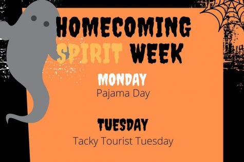 Homecoming dress up days: 10/19 - 10/23