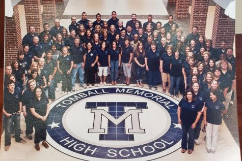 The original 2011-2012 TMHS staff photo. While some members have left the school, some teachers have stayed to watch the school reach its first decade.
