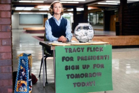 """Election,"" directed by Alexander Payne, stars Reese Witherspoon and Matthew Broderick."