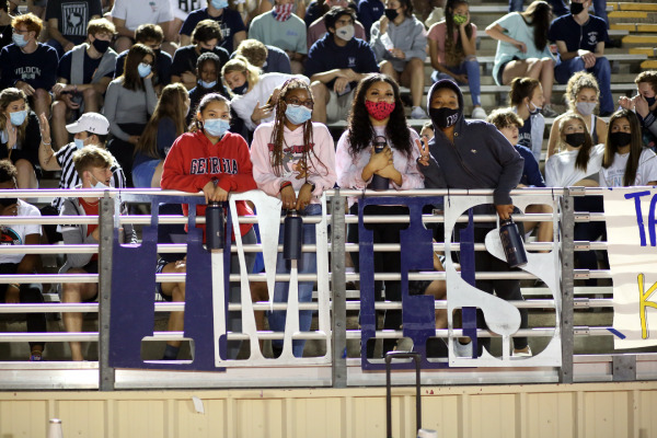 Students pose for the camera during the game.
