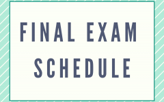 2020 Fall Final Exam Schedule