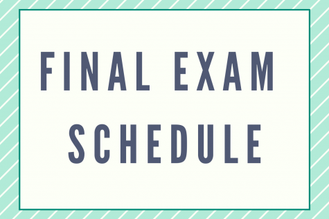 2020 Fall Final Exam Schedule